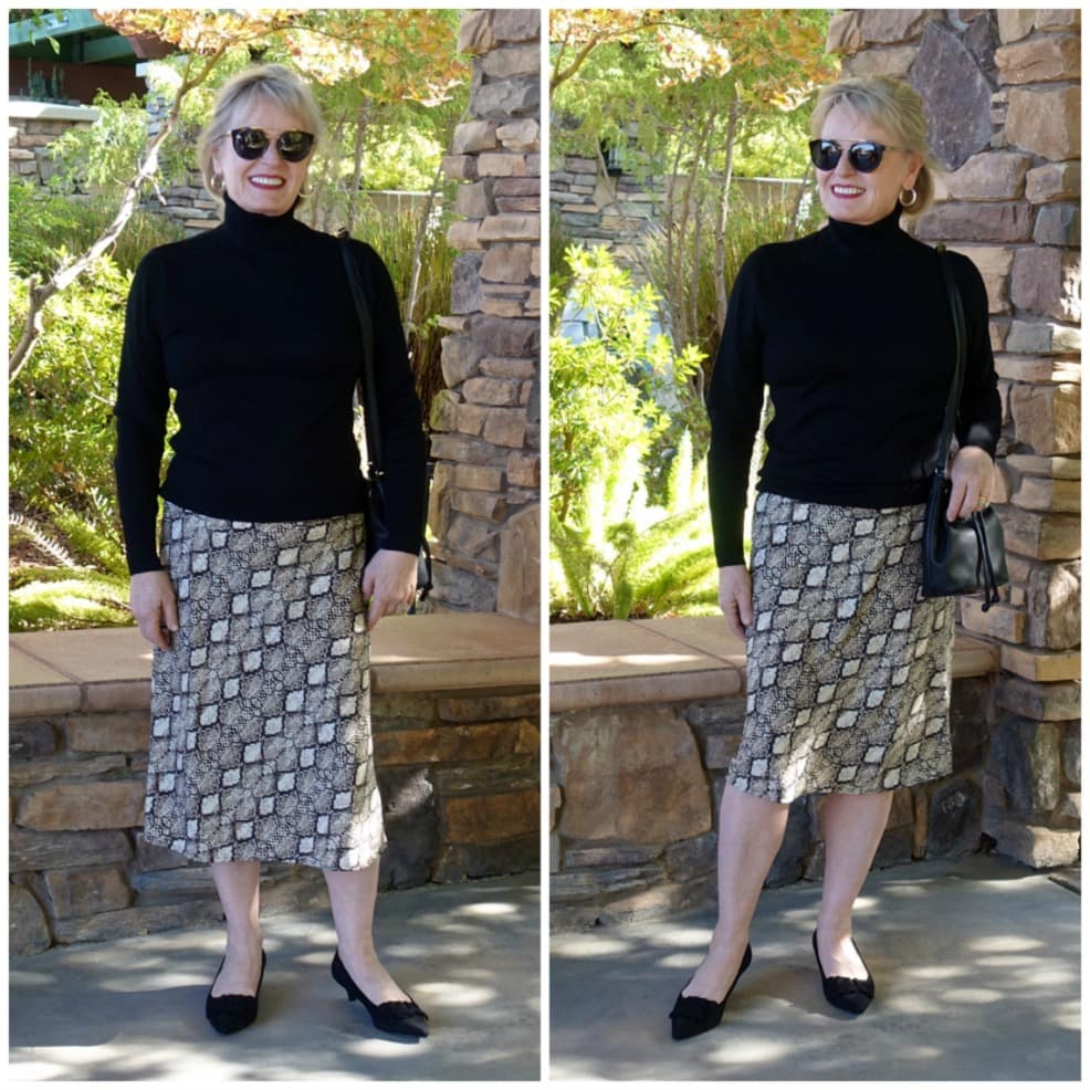 Jennifer Connolly showing best length for a midi skirt