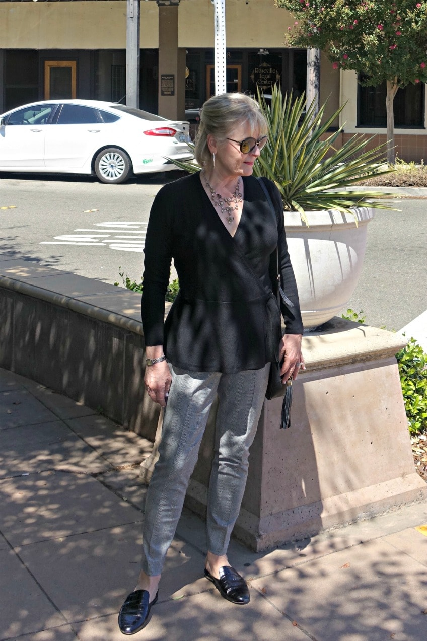 Jennifer Connolly wearing Talbots new essex pant with black sweater st street light