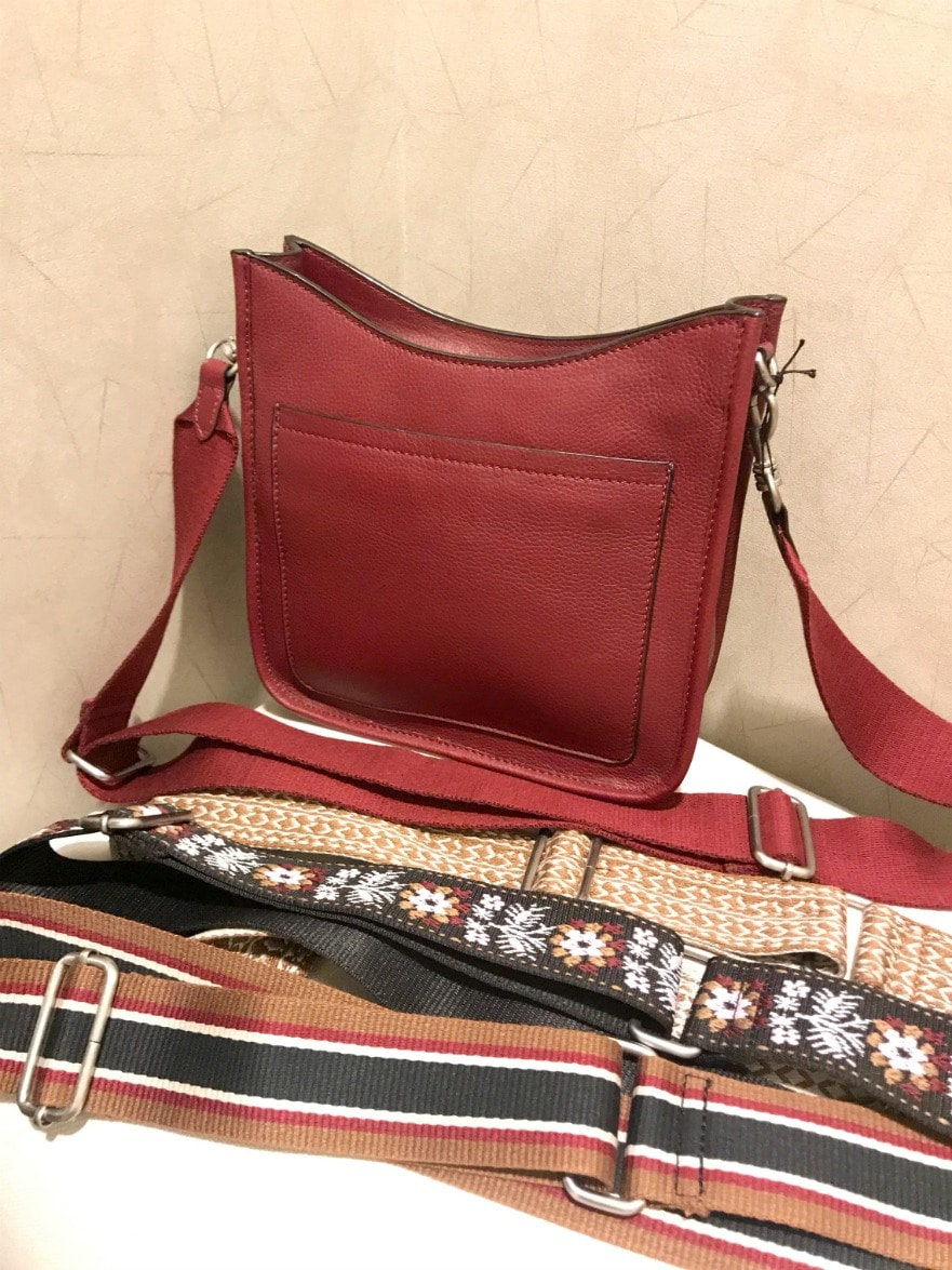 red messenger bag from j.jill on A Well Styled Life