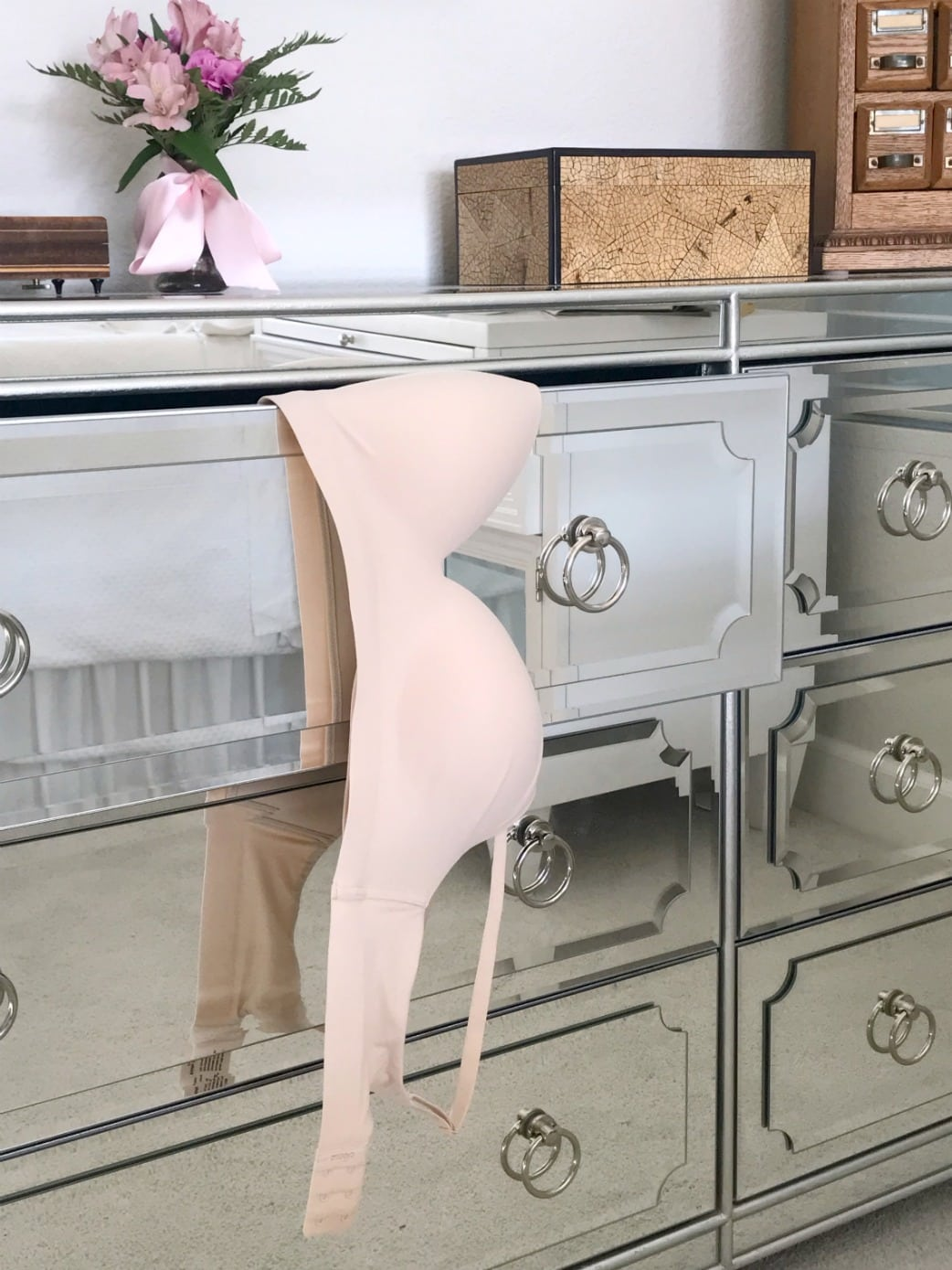 Enbliss Wirefree Bra on dresser at A Well Styled Life