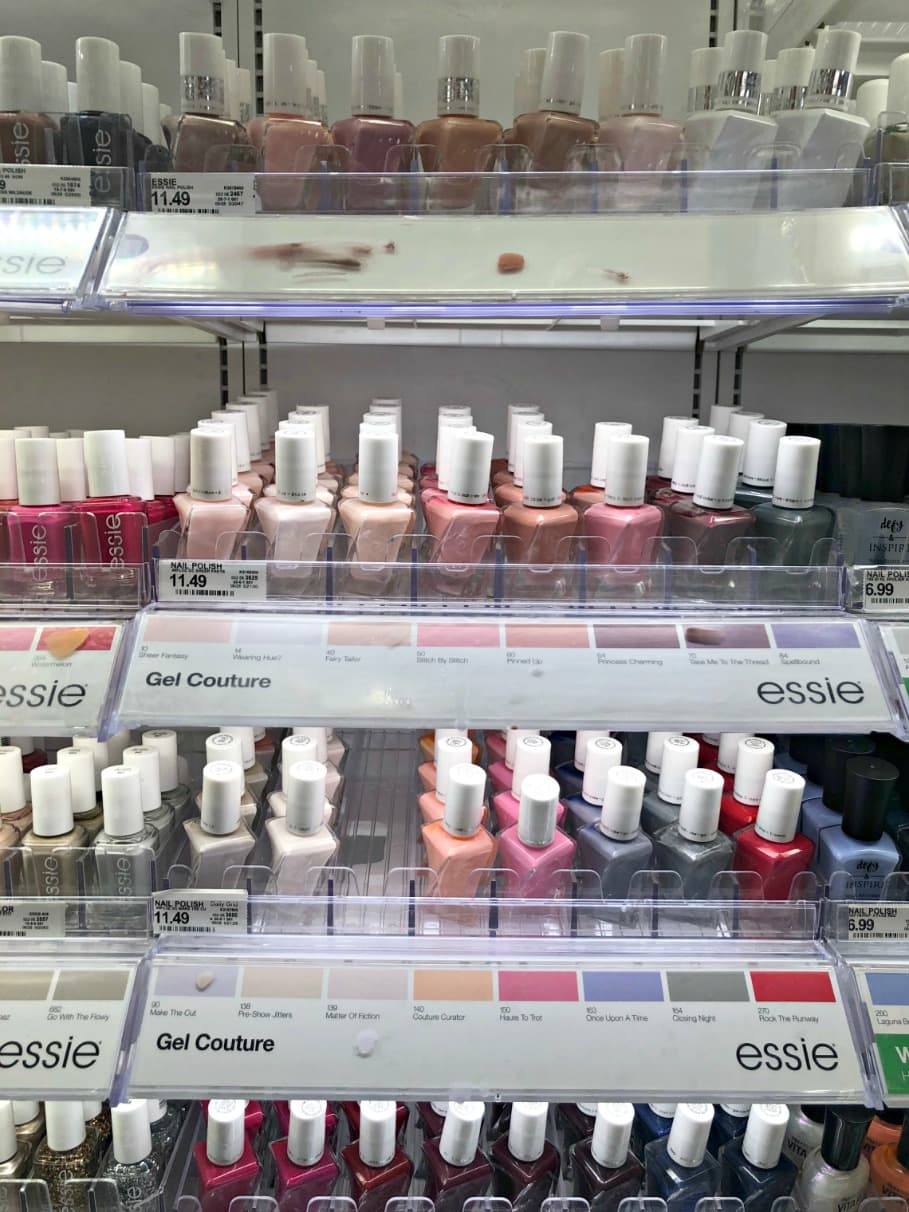 Essie Gel Couture display at Target on A Well Styled Life