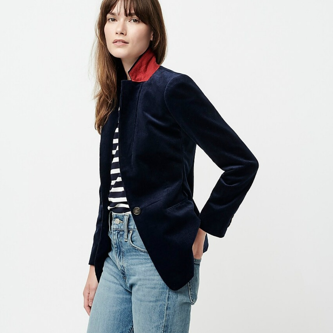 navy corduroy jacket from J.Crew on A Well Styled Life