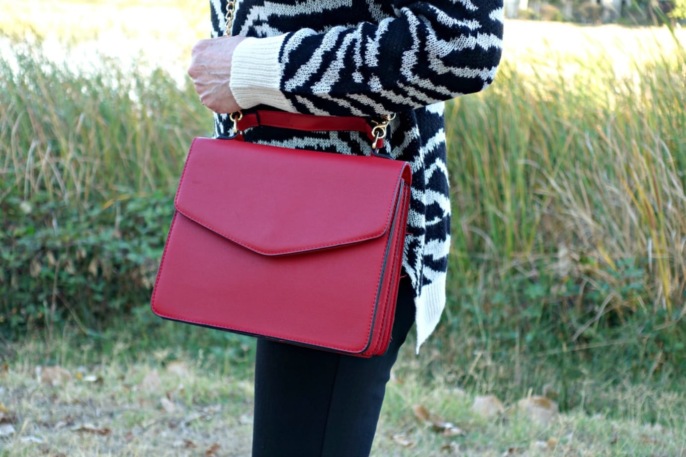 Red Crossbody bag from Walmart on A Well Styled Life