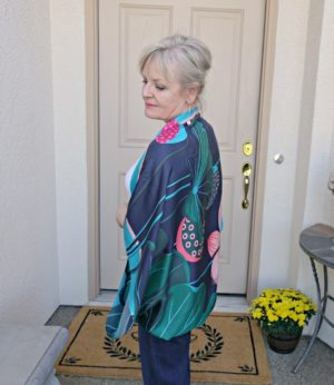 Talbots scarf on Jennifer Connolly of A Well Styled Life