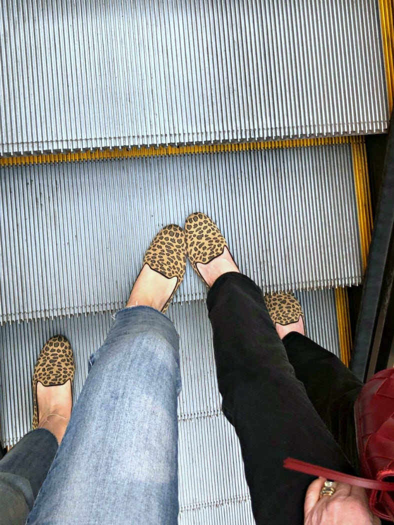 Rothy's classic loafer in Leopard print