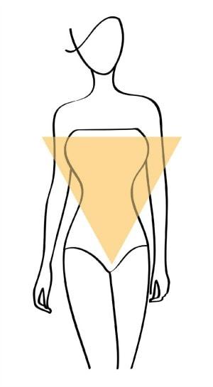 inverted triangle body shape illustration