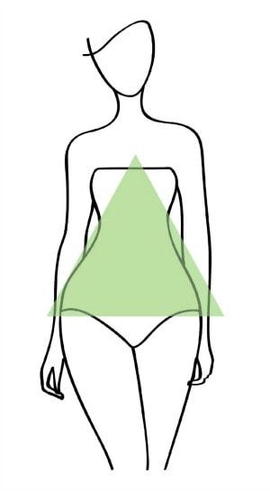 triangle body shape illustration