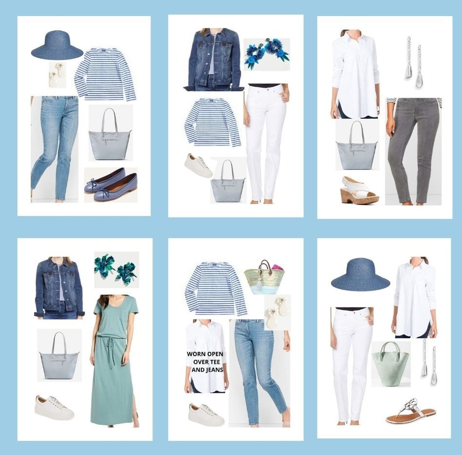 6 outfits summer capsule