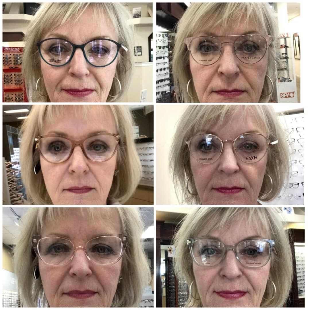 Jenifer Connolly of A Well Styled Life trying 6 eyeglass frames
