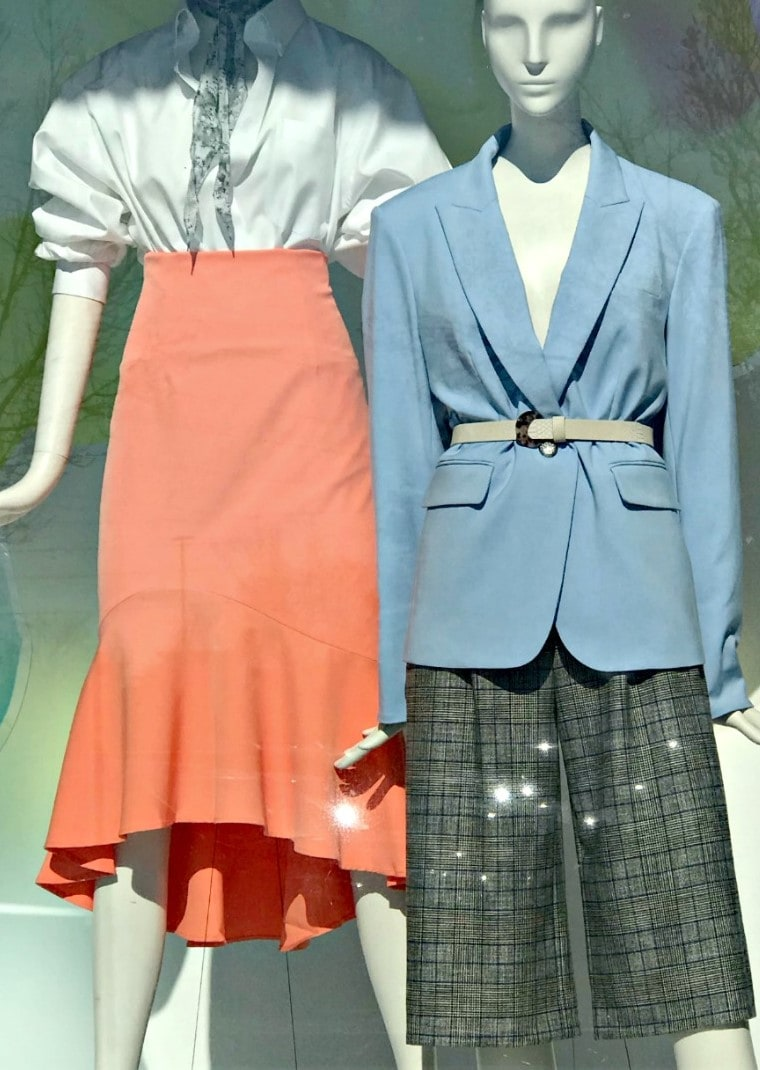 close up view of pleated shorts and skirt