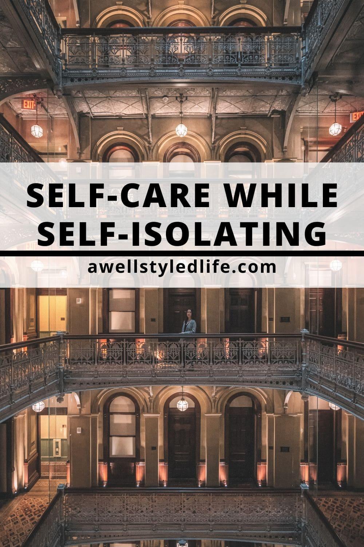 woman alone self isolating