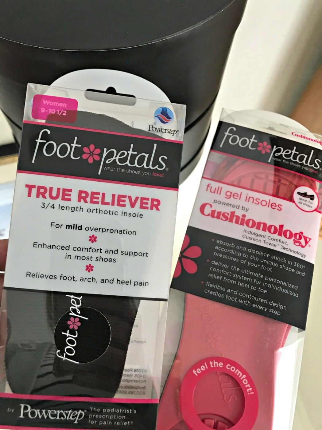 foot petals cushioned insole and arch supports