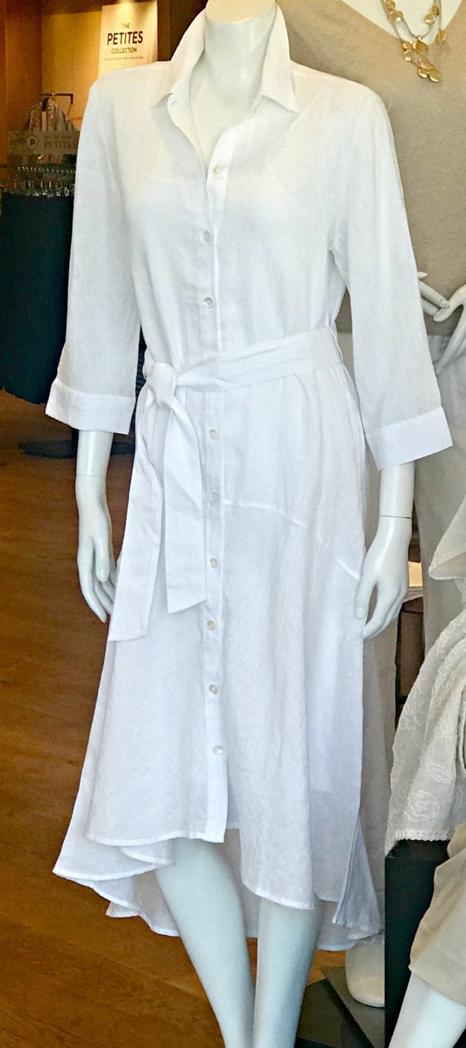 white linen dress from Chico's