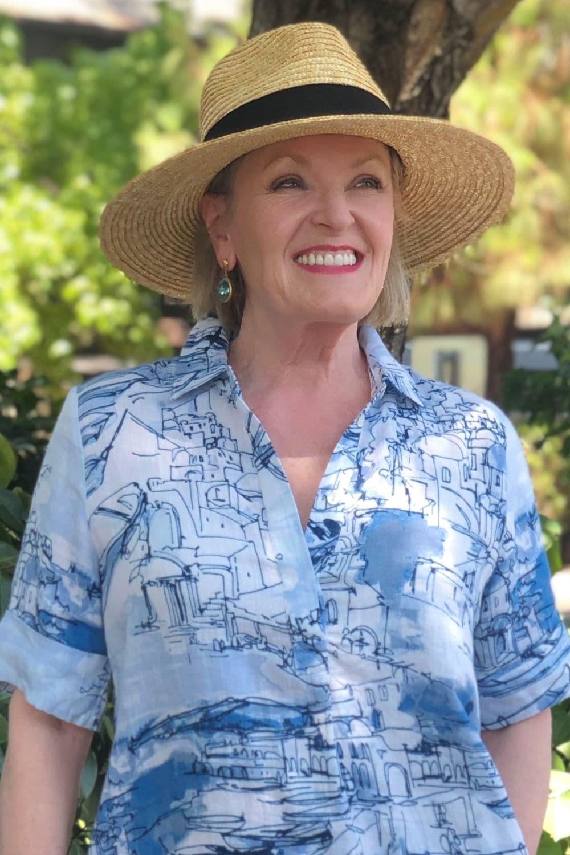 fashion blogger Jennifer Connolly wearing dean Davidson earrings