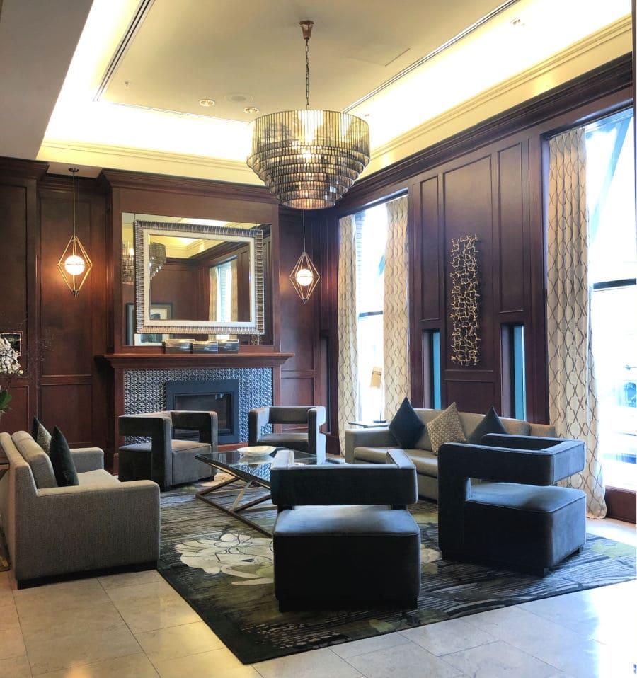 lobby of Magnolia Hotel in Victoria, BC