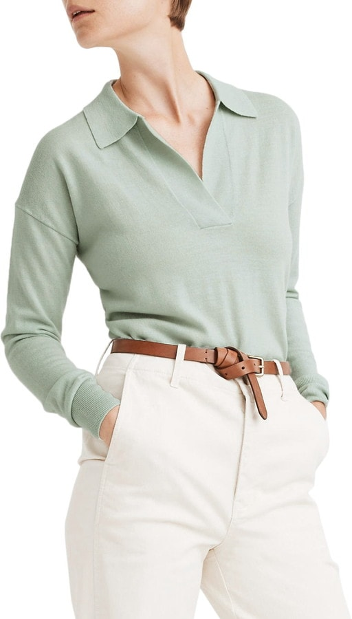 aqua madewell polo sweater