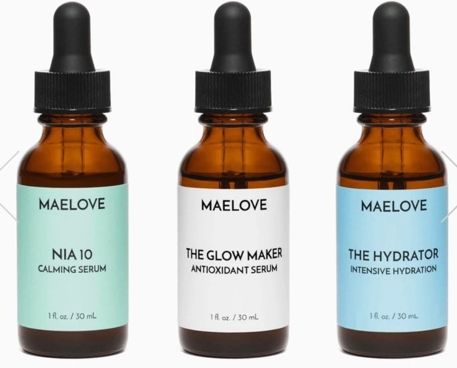 three bottles of serum
