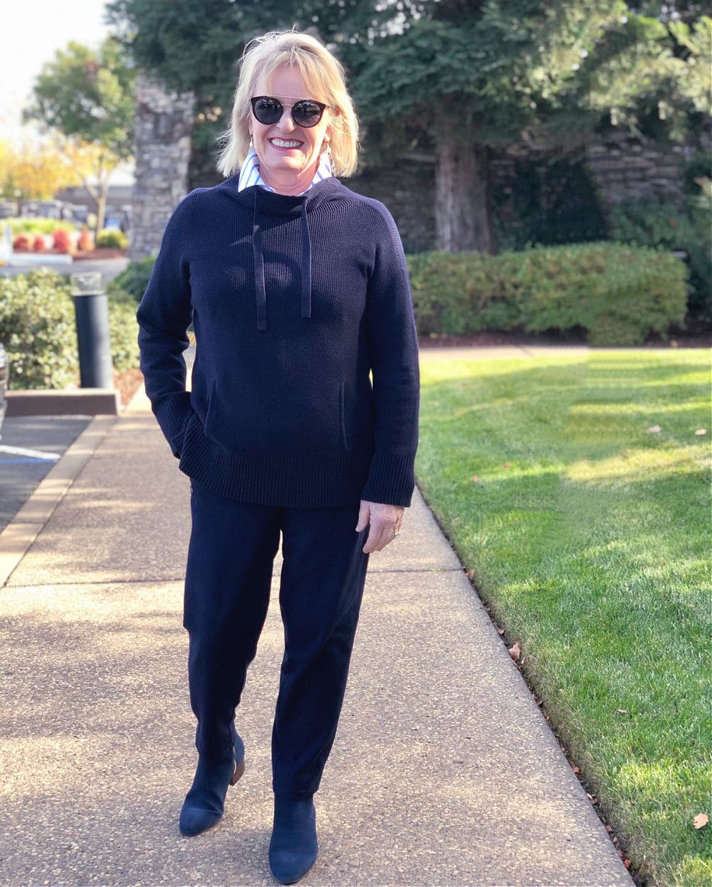 Casual T by Talbots Navy Outfit