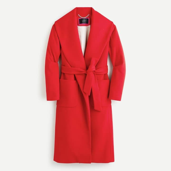 red italion wool and cashmere coat