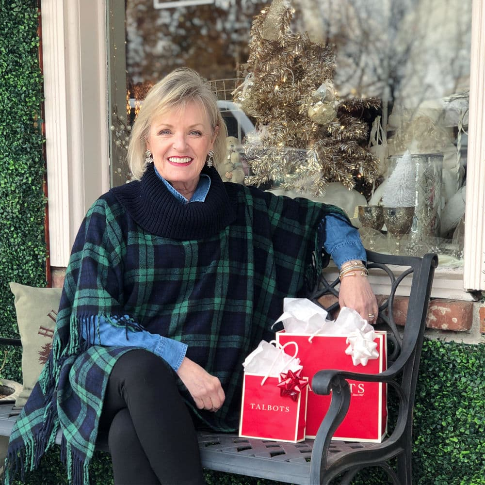 Holiday Looks With Talbots' Black Watch Poncho