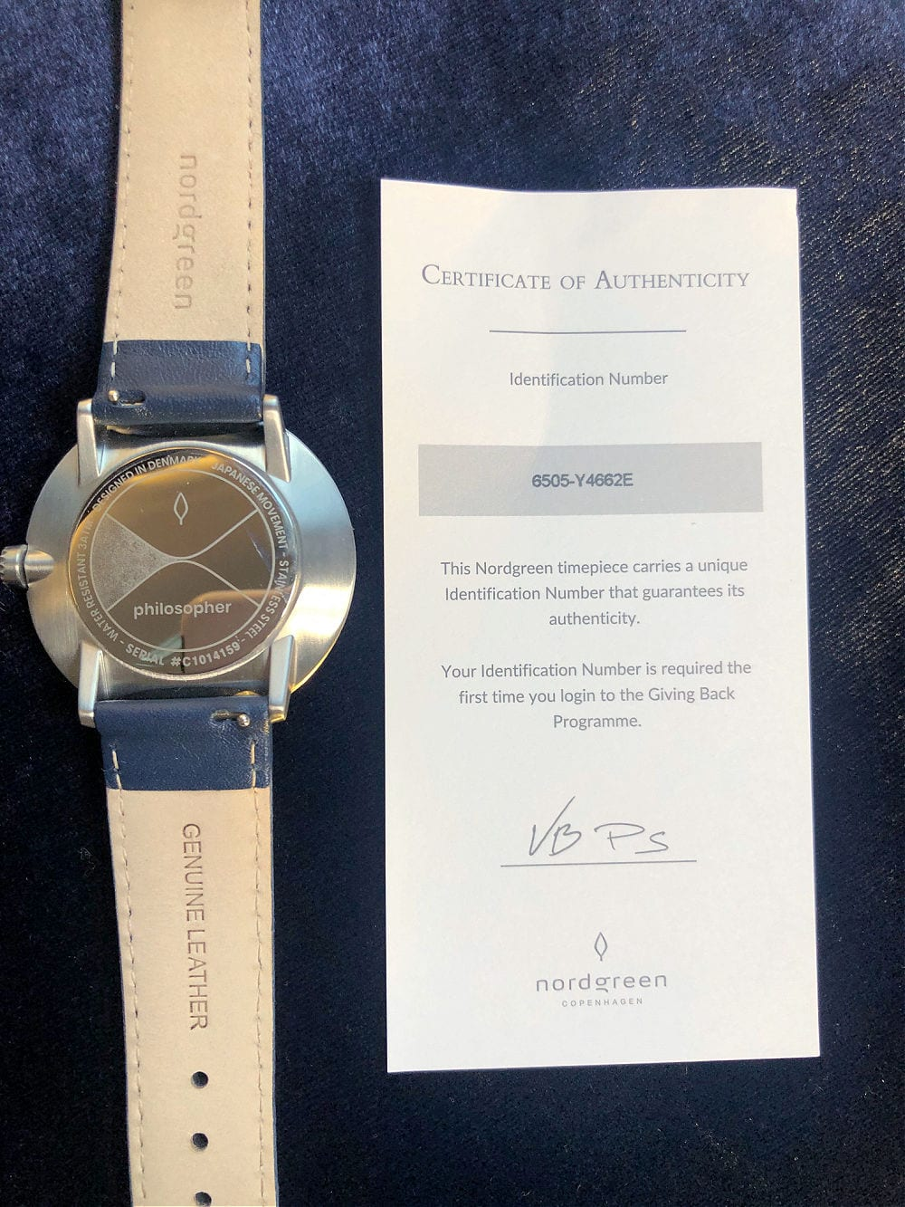 serial number and back of nordgreen watch