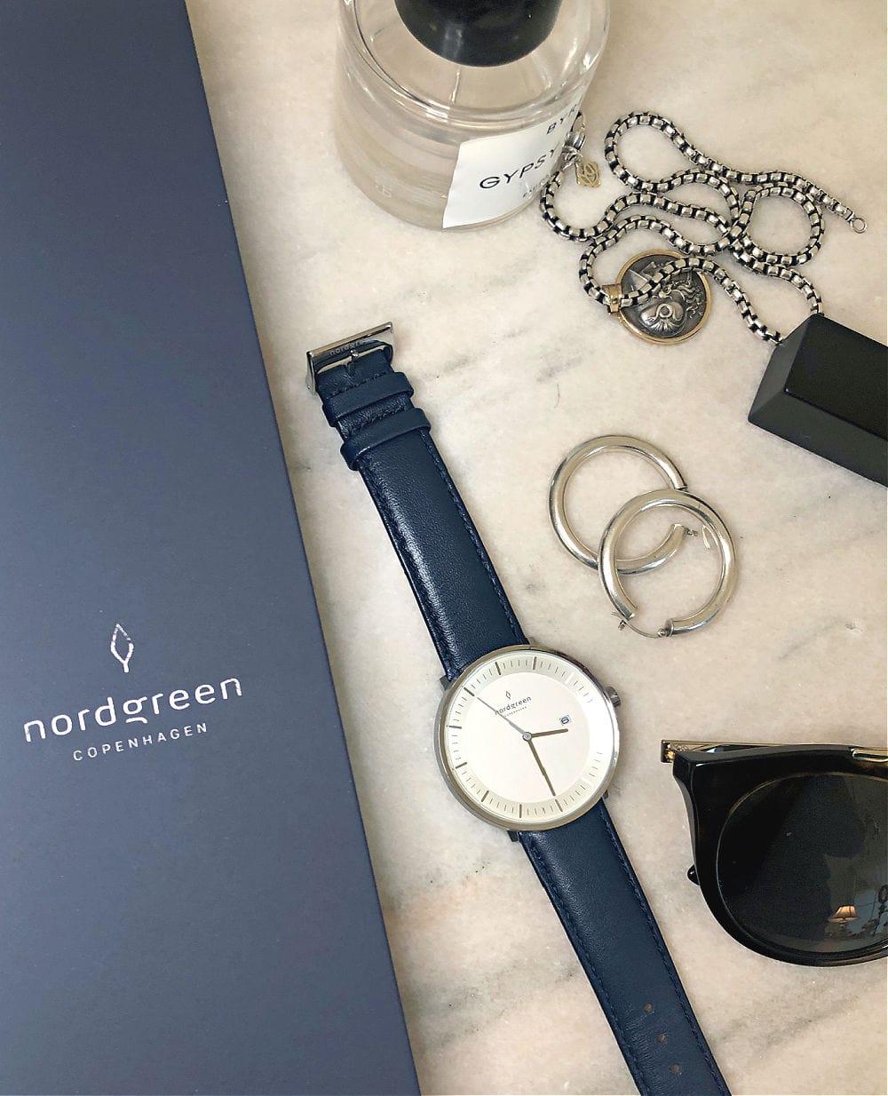 flat lay witrh nordgreen watch
