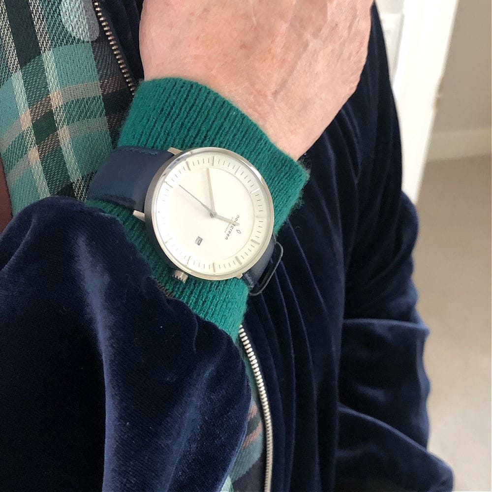 nordgreen philosopher watch with navy strap