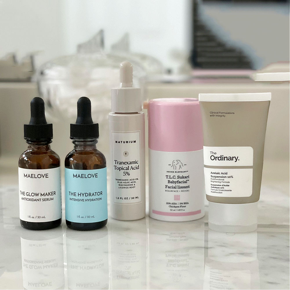 5 bottles of skincare acids to use on midlife skin