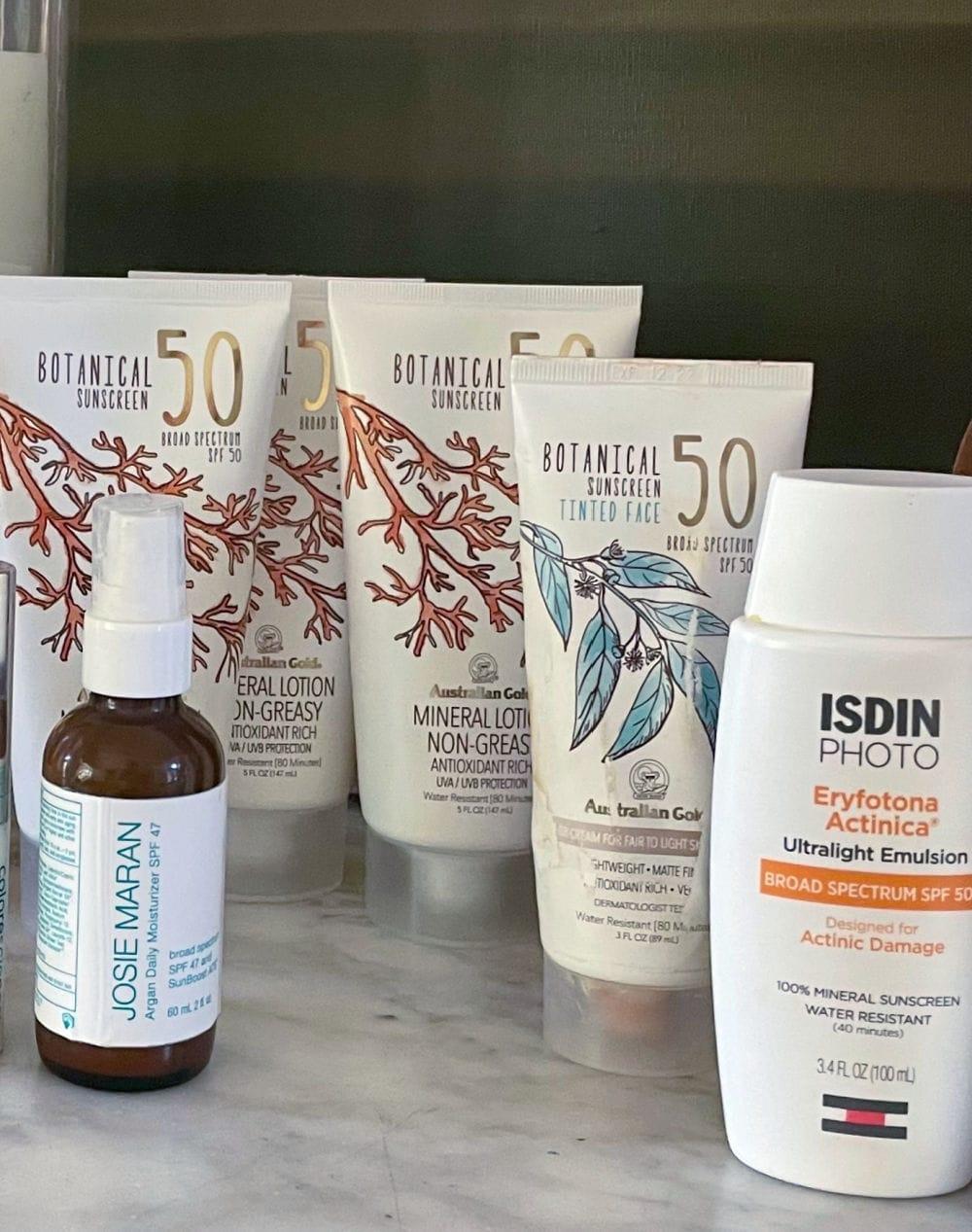 3 tubes of australian gold cruelty free sunscreen