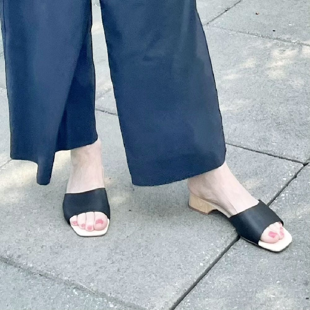 wide leg workout Zella pants and slip on sandals