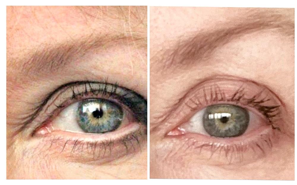 comparison of eyebrow color