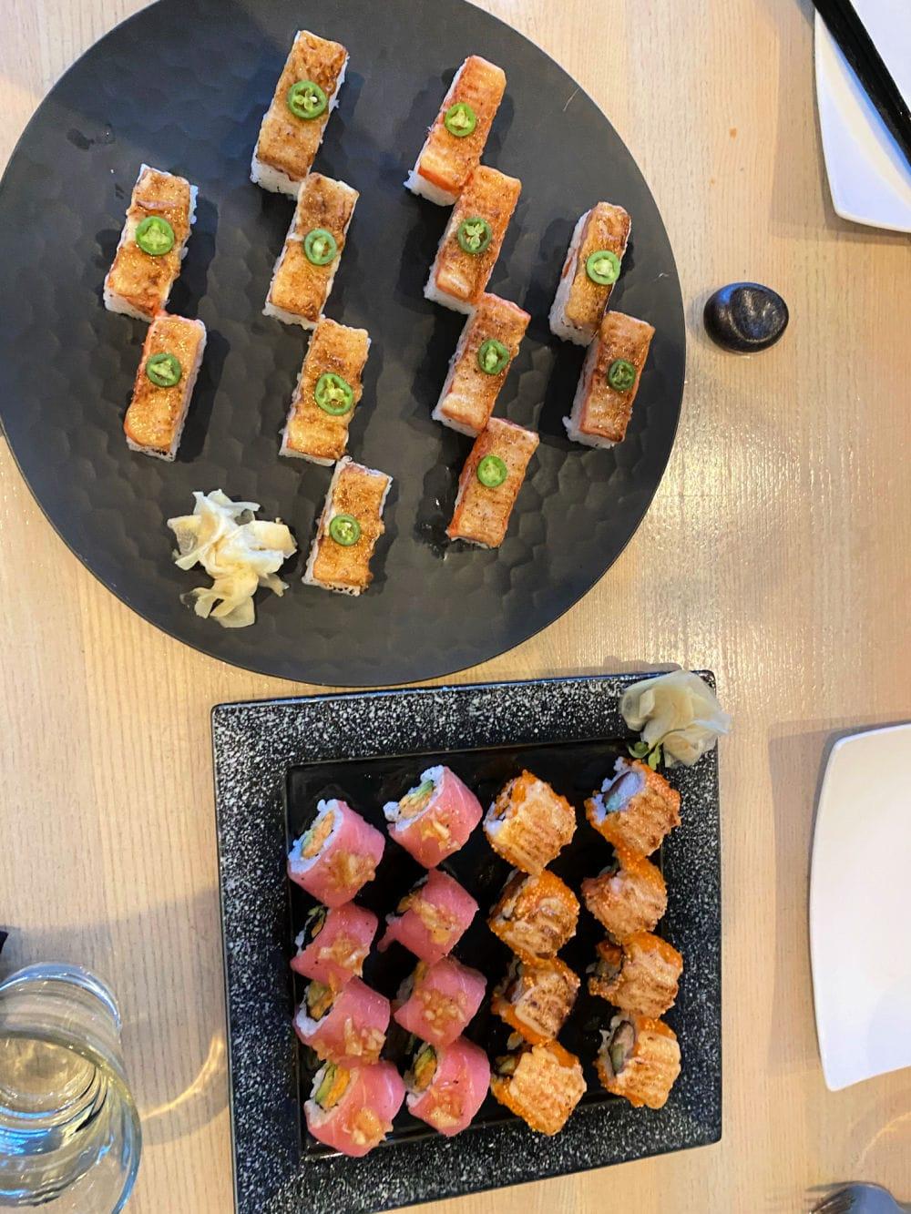 sushi at miku restaurant in Vancouver, bc