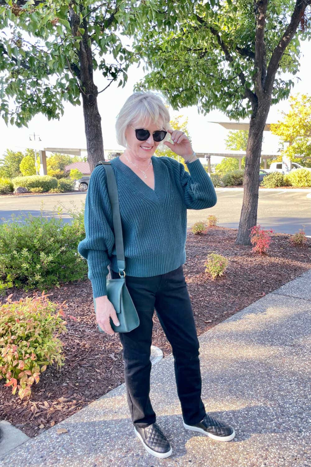 woman wearing budget friend clothes from target
