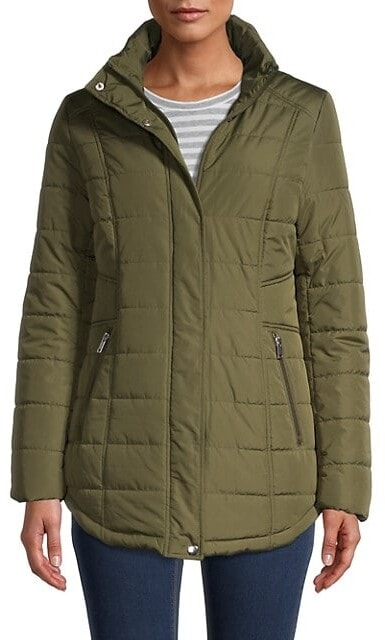 square quilted jacket