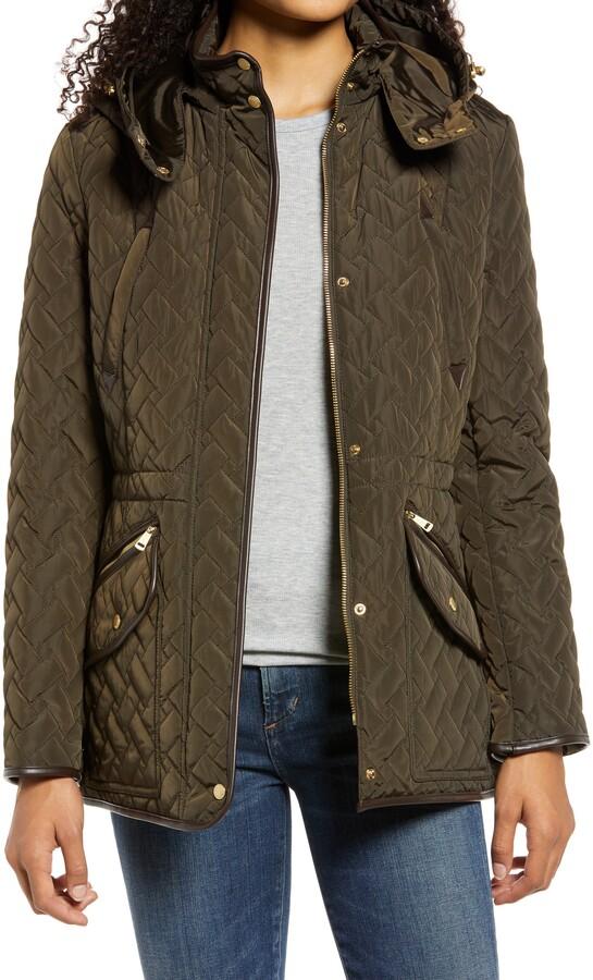 basket weave quilted jacket